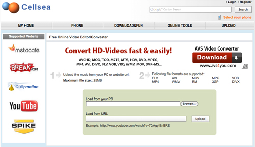 Cellsea Video Converter