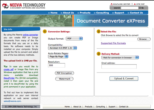 Document Converter eXPress