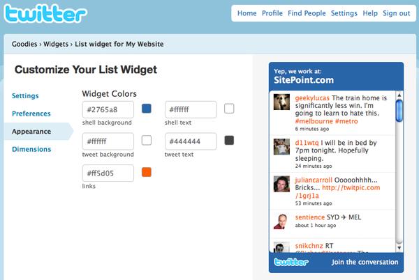 List Widget